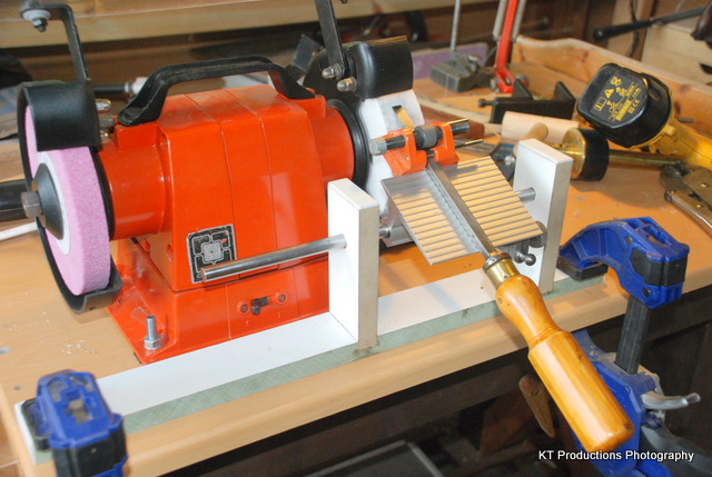 setups for my homemade grinder tool rest – woodguides